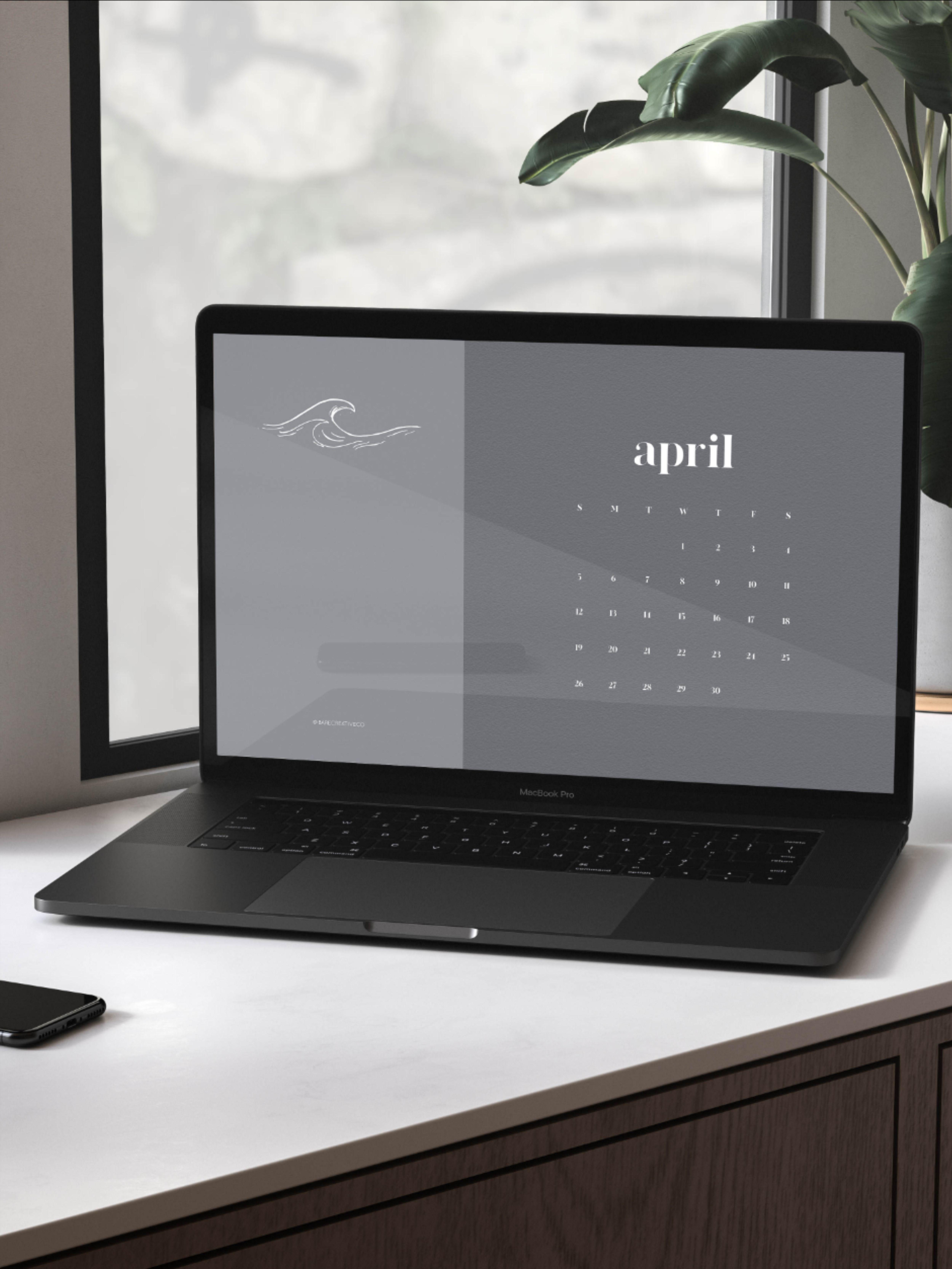 2020 Desktop Wallpaper Calendar MacBook Desktop Calendar