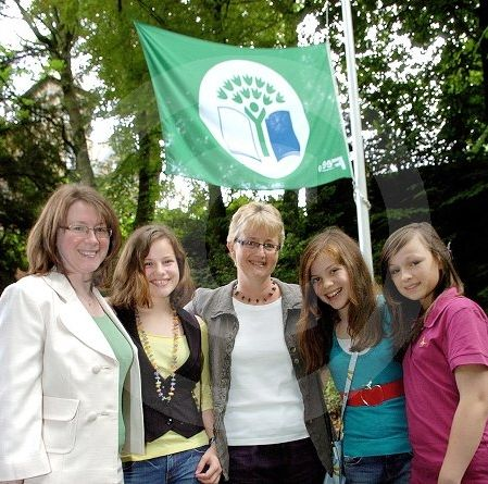 Georgie Henley attends a flag raising at Moorfield School for Girls - August 2008