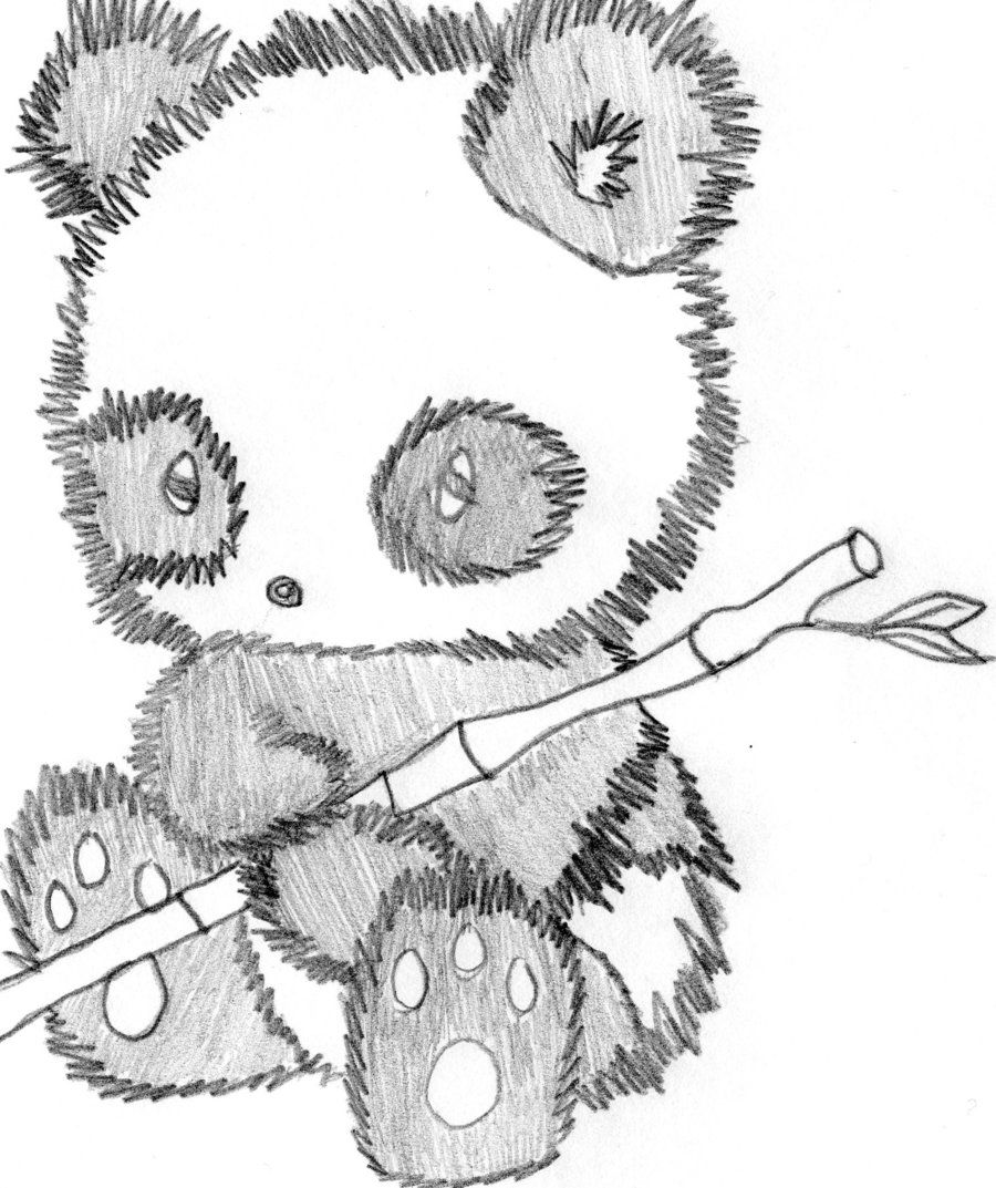 drawing you can draw | Cute Panda Drawing by SpikeMcFly. Cutest ...