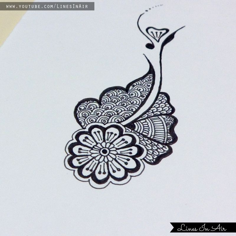 Easy Doodle Art Designs : Easy henna mehndi design by linesinair viantart on