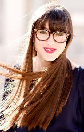 Geek Chic Long Straight Hair With Bangs Cabello Belleza Estilos