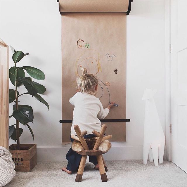 Children's creativity starts with blank roll of paper  is part of Baby bedroom -