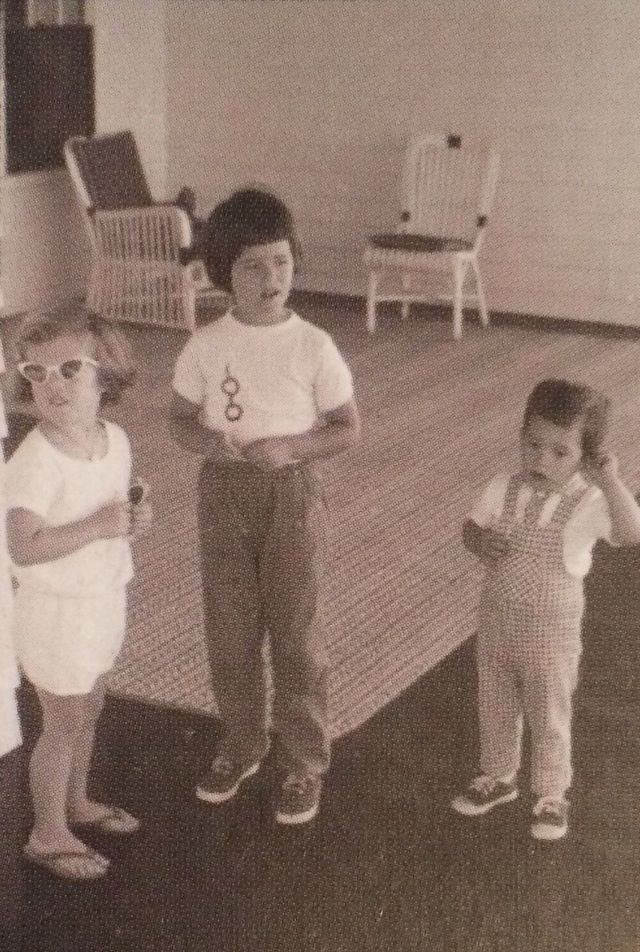 Caroline with her Shriver cousins circa July 1961