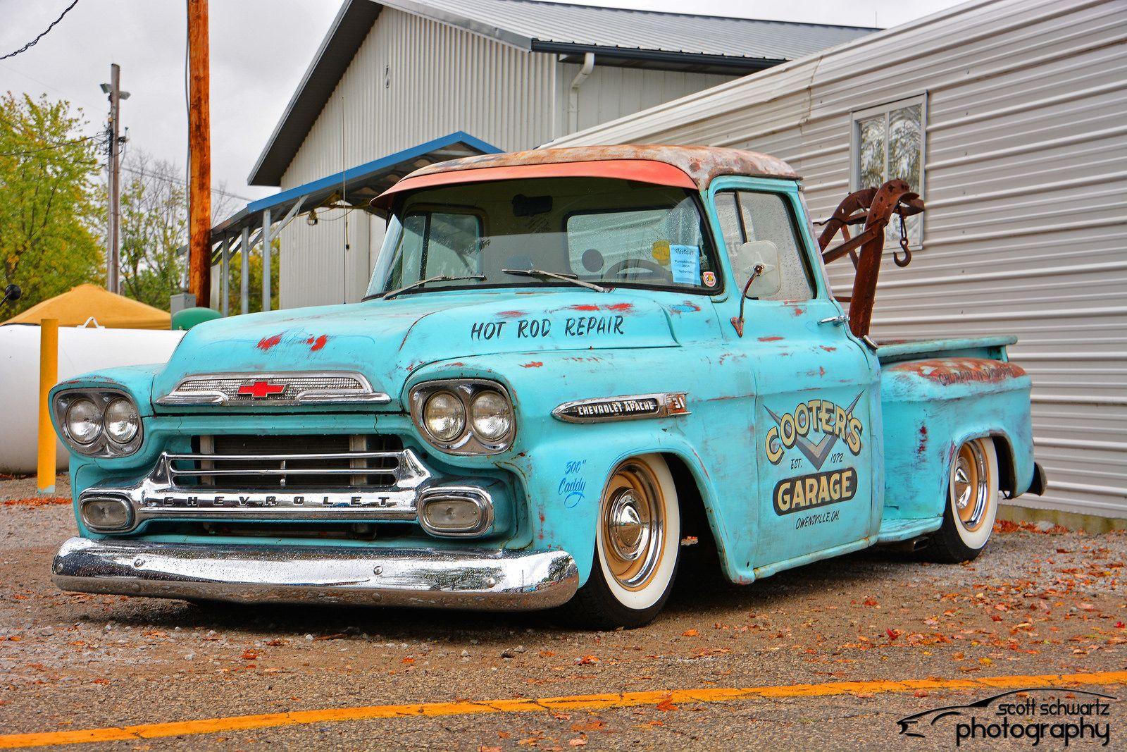 1959 Chevy Apache Tow Truck Classic Pickup Trucks Chevy Apache
