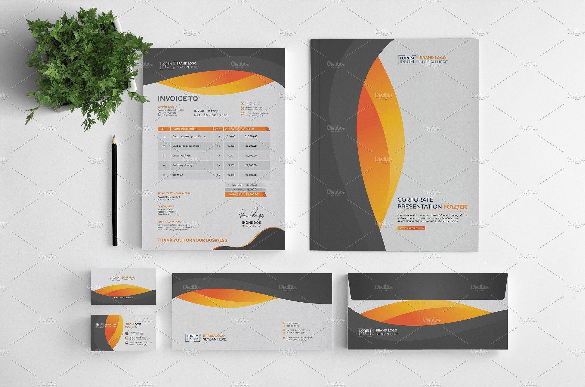 Branding stationery stationery branding envelope