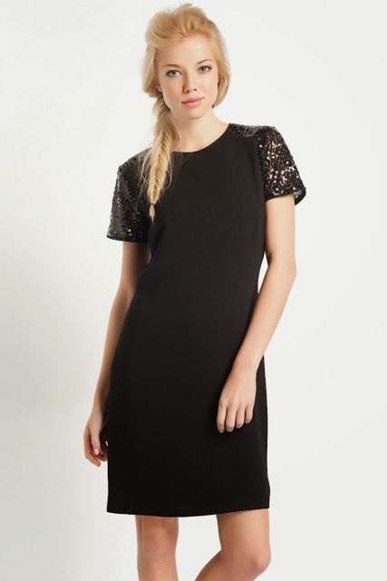 d0bd9a8065321 kolları dantelli kısa kesim koton siyah elbise #koton #elbise #2014 ...
