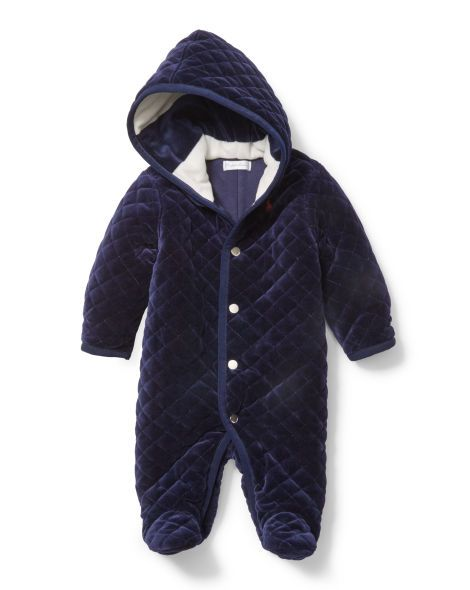 f88346e39 Quilted Velour Bunting - Baby Boy Outerwear   Jackets - RalphLauren ...