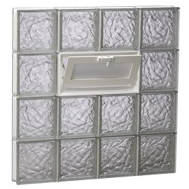 REDI2SET Ice Glass Pattern Frameless Replacement Glass Block Window (Rough Opening: 34-in x 30-in; Actual: 32.75-in x 29-in) at Lowes.com
