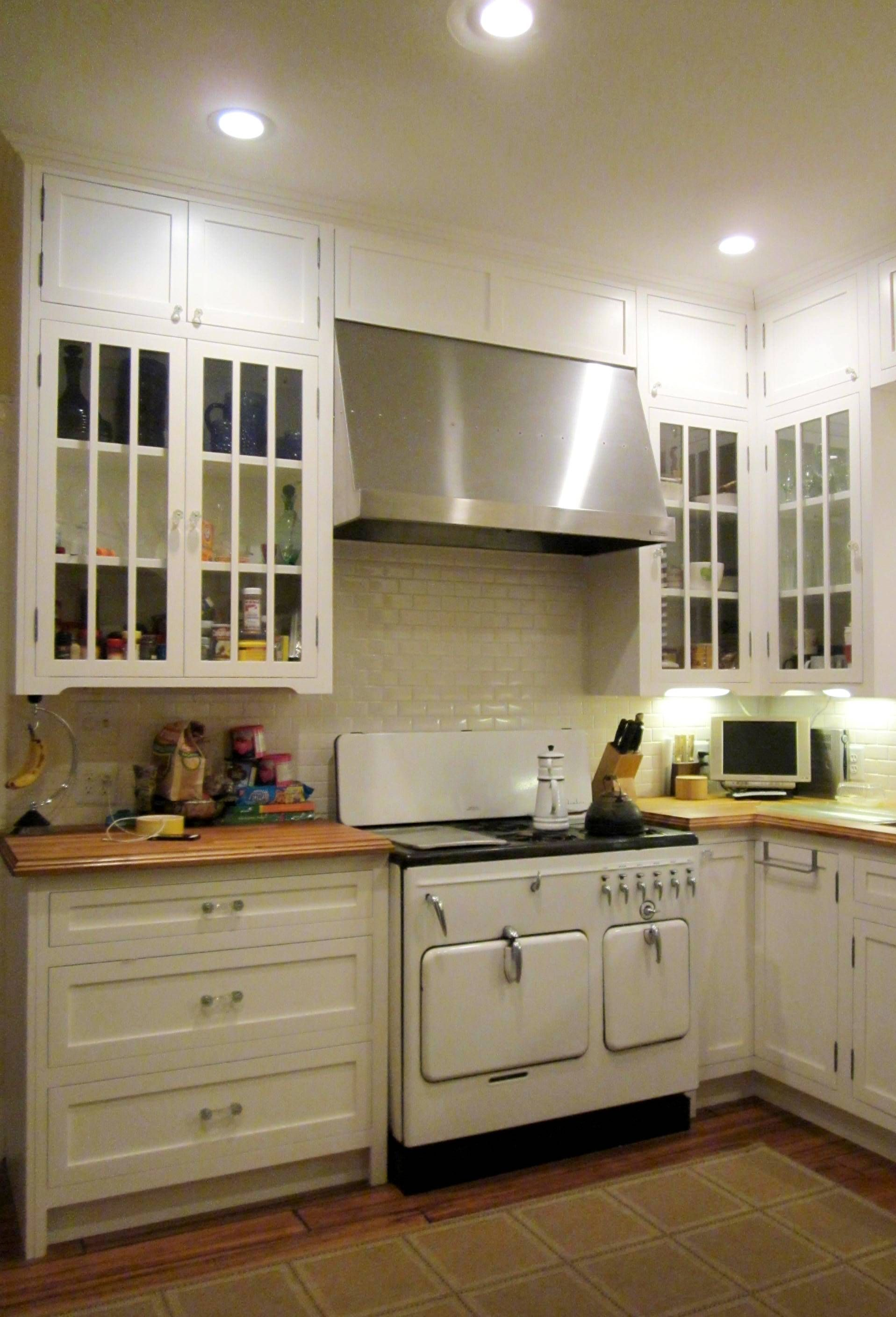 """1920's """"period style"""" kitchen for Andre Jagot in Houston's"""