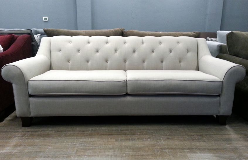 The Kenya Sofa Has A Deep Seat And Diamond Tufted Back Offering Cozy Comfort In Elegant Stylish Design You Can Customize Yours At Any Of Our Three