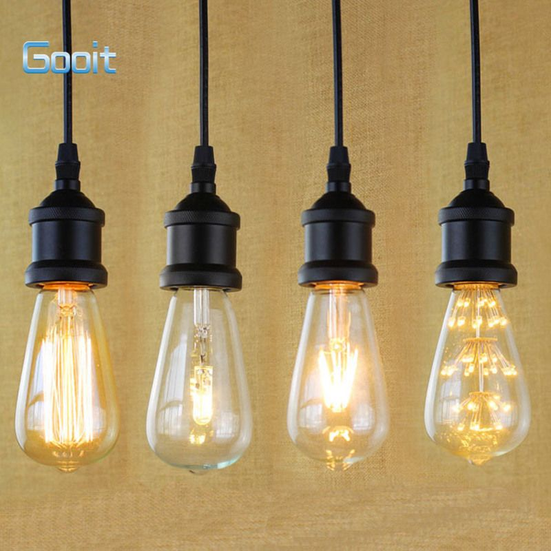 E27 light socket i shape vintage retro edison bulb pendant lamp e27 light socket i shape vintage retro edison bulb pendant lamp holder with hanging wire 90v mozeypictures Images