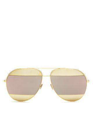 7defcc1246 Women s Split Mirrored Aviator Sunglasses