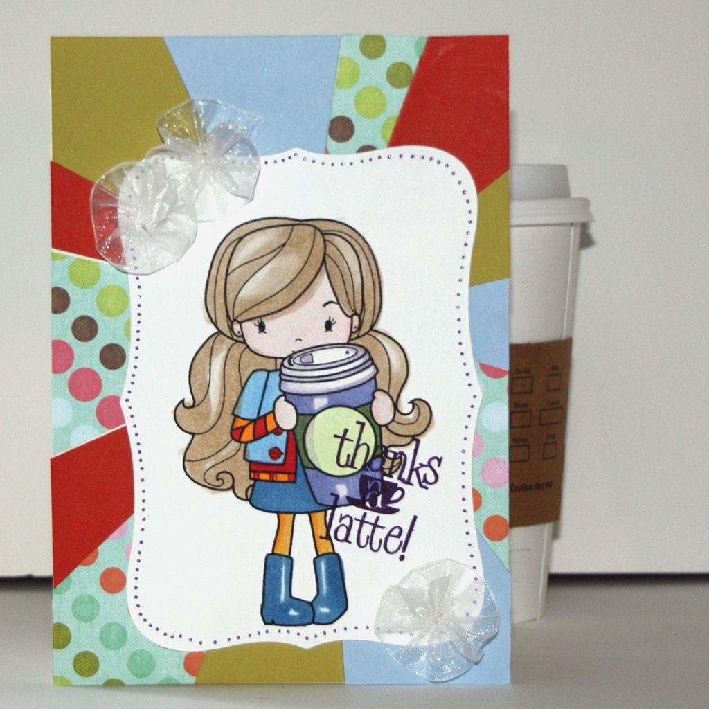 Thanks A Latte Girlfriend Card With Tutorial (With Images