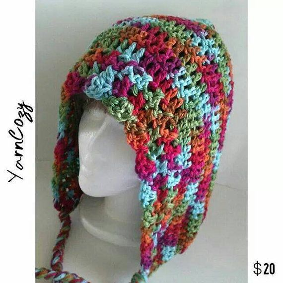 Hula Hoop Hood, Crochet Pixie Hood, Pixie Hat, Festival Hood Check ...