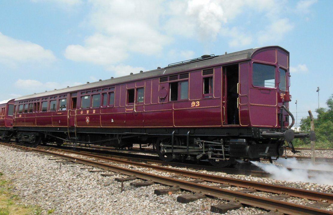 Gwr Steam Railmotor 93 Backs Up By Rlkitterman Steam Old Trains Train