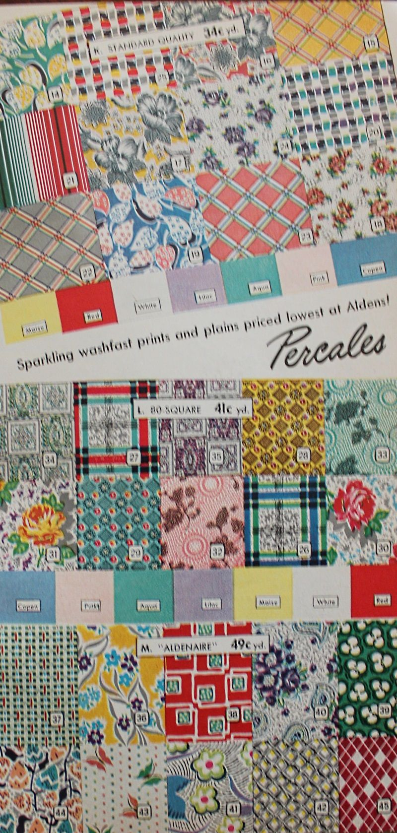 1950s Fabrics Colors In Fashion 1950s Fabric Vintage Fabric Patterns Fabric