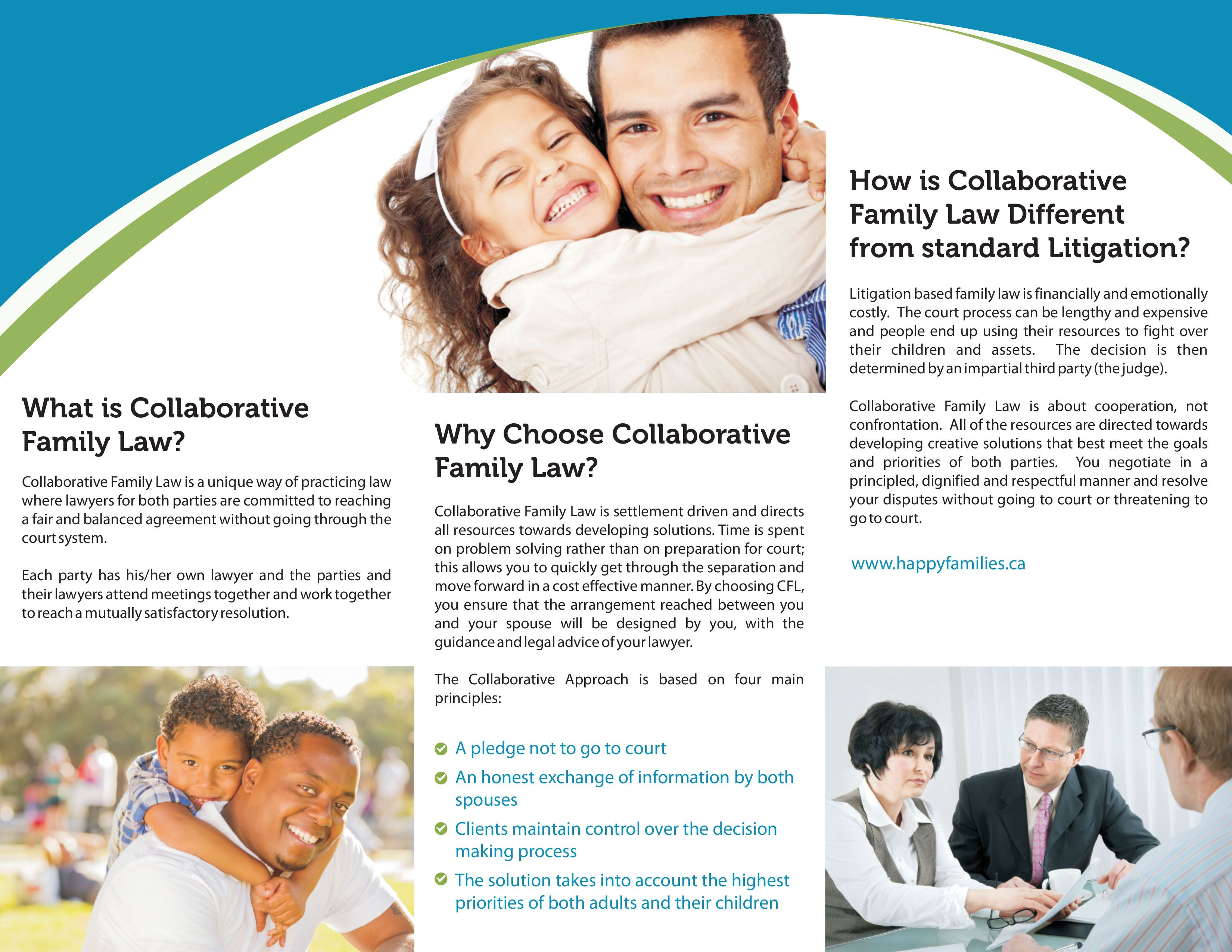 Inside of a Tri-Fold Brochure for a Collaborative Family Law ...