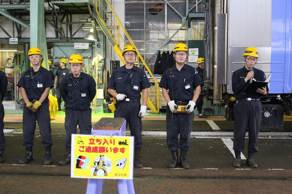 2019 9苗穂工場一般公開 7 リモコン操縦 組立科の天井クレーン