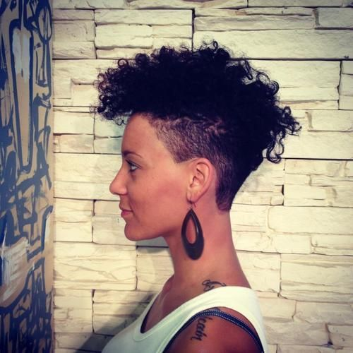 curly undercut