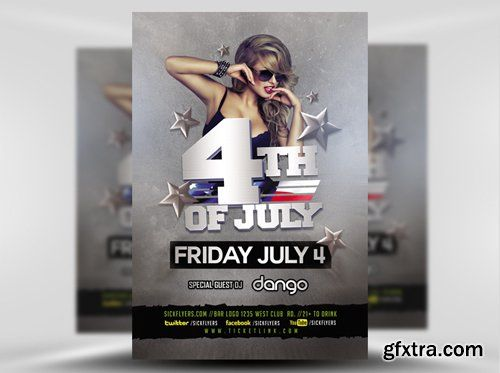 4TH of July Flyer Template GFXTRA Pinterest Adobe photoshop - workshop flyer template