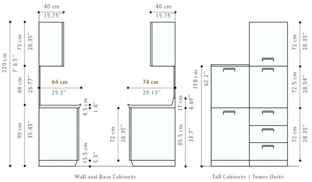 Luxury Standard Kitchen Cabinet Door Sizes  Kitchen