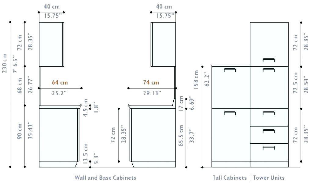 Luxury Standard Kitchen Cabinet Door Sizes