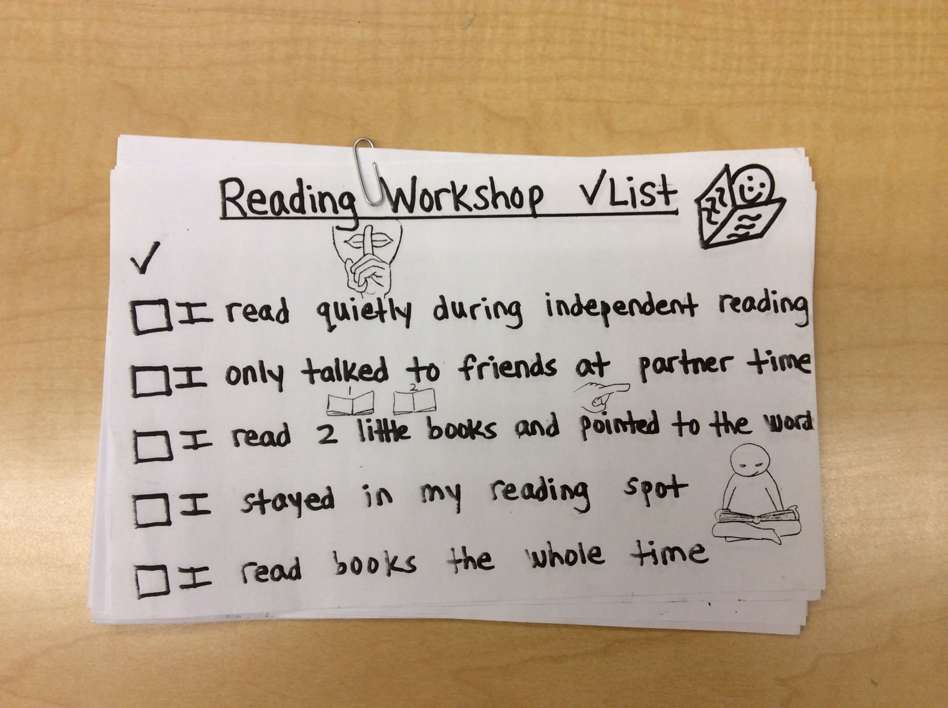 Self Monitoring Reading Checklist For Lower Elementary Grade Students Meshnick Amp Arest Ps 75