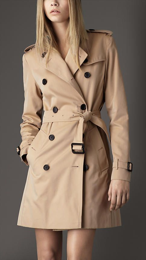 Burberry - MID-LENGTH COTTON GABARDINE TRENCH COAT   My closet ... d1e3b13feecf