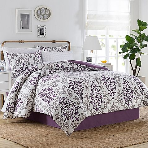 Create an inviting bedroom oasis with the carina comforter - Light purple comforter set ...
