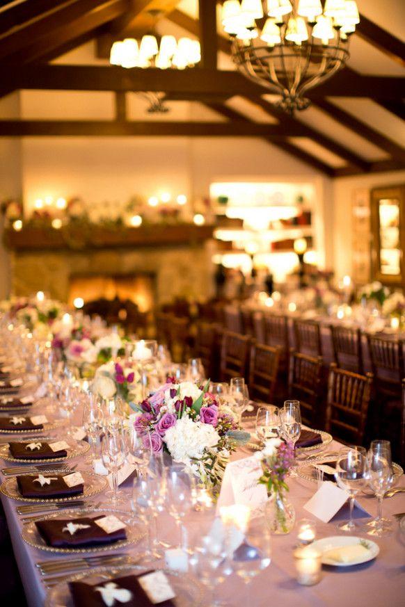 Plum Wedding Centerpieces Reception Ideas Wedding Rustic