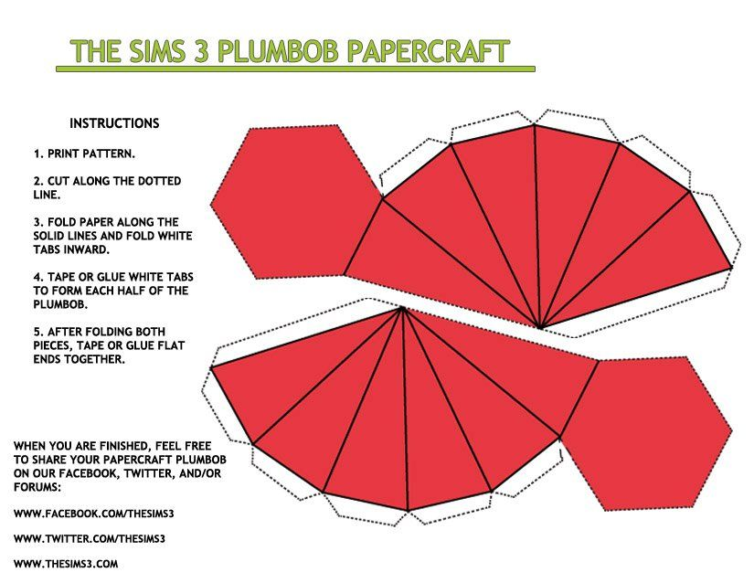 Sims Galore Create A Plumbob Sims Paper Crafts Sims Costume