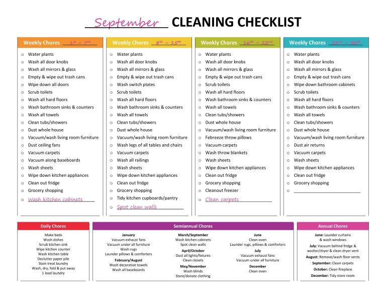 house cleaning list, cleaning list, master cleaning list, cleaning