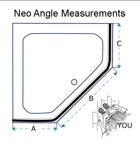 Custom Neo Angle Shower Rod Corner Shower Curtain Rod Shower