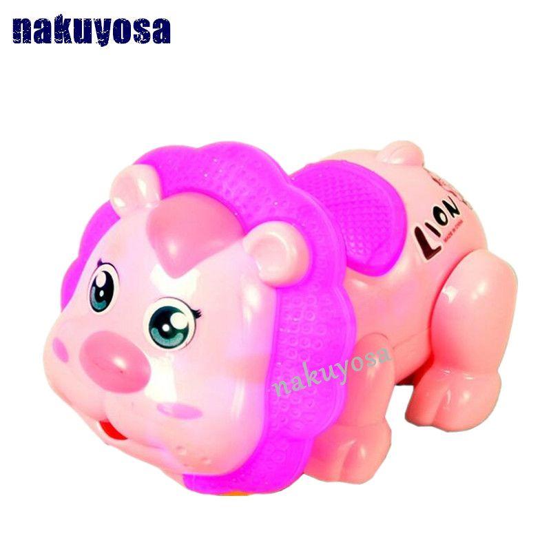 음악 & 빛 대화 형 교육 장난감 슈퍼 사랑스러운 전기 사자 어린이 장난감 선물 NY-1007