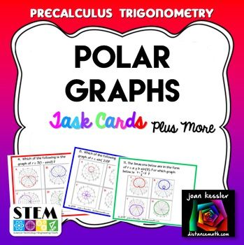 Polar Graphs Task Cards and Matching plus QR for