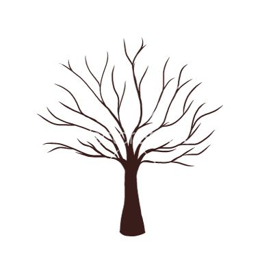 Dead Tree Without Leaves Vector Image On Vectorstock Tree Drawing Tree Drawing Simple Tree Illustration
