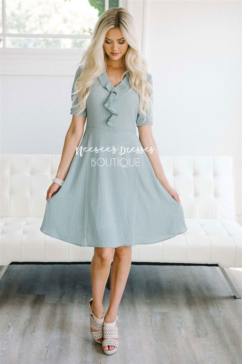 The amanda dainty ruffle dress tie belts church clothes and