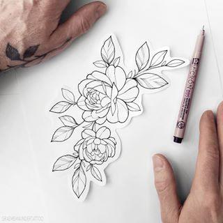 Photo of Graeme – Tatoueur sur Instagram: «Nouveau flash (pris) Rose simple ⠀⠀⠀⠀⠀⠀⠀⠀⠀ D… #flowertattoos – tatouages de fleurs