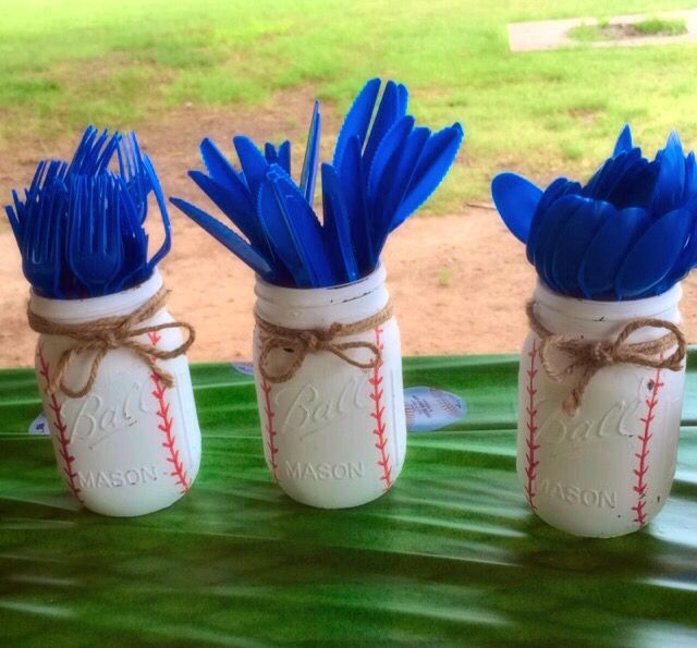 Baseball Themed Decorating Ideas Part - 46: Cute Idea For Boys Baseball Themed Birthday Party