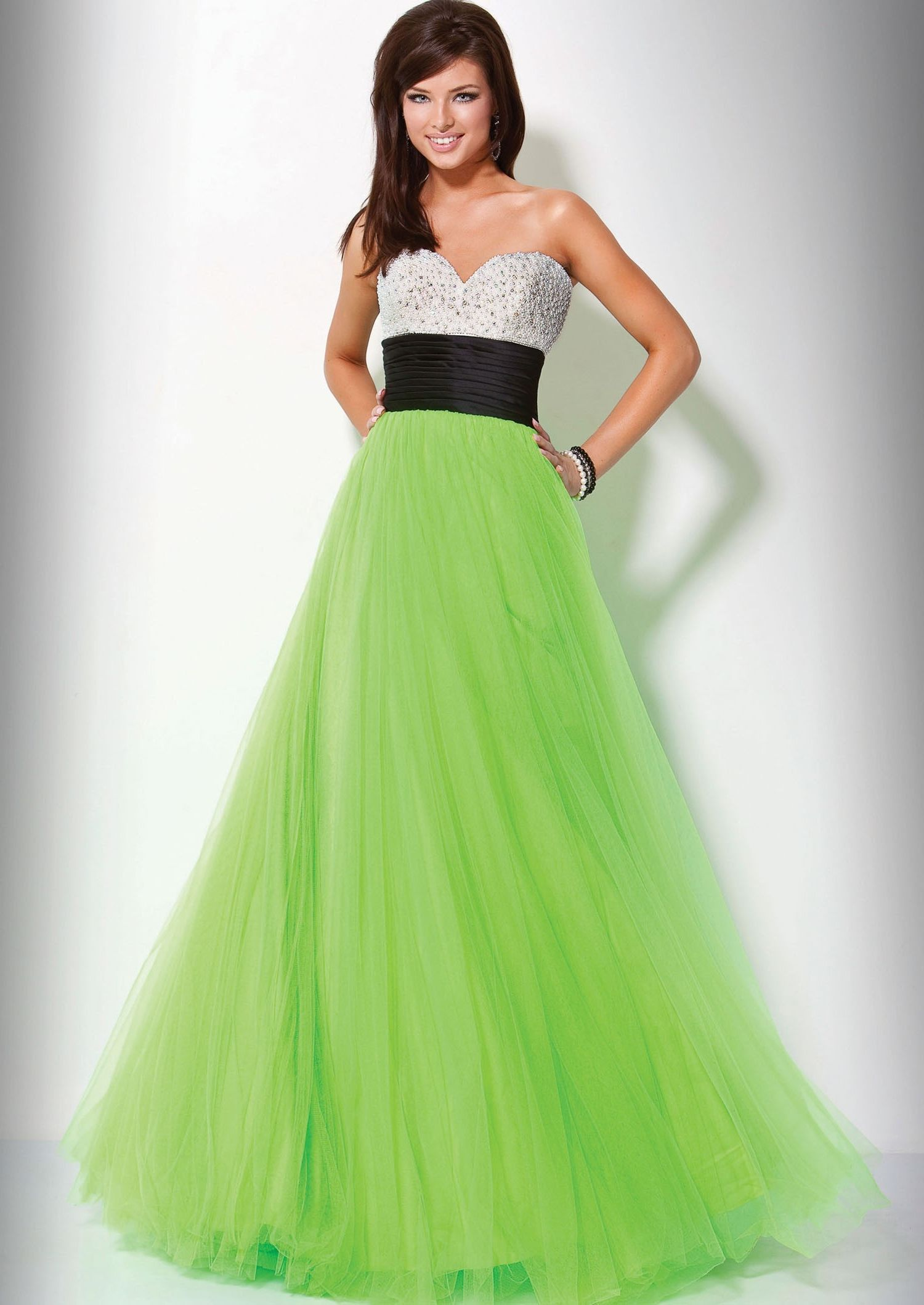 2019 year for women- Dresses quinceanera neon green and black