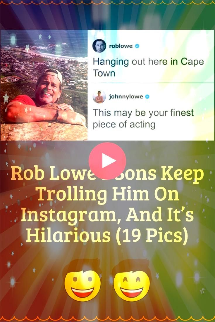 Lowes Sons Keep Trolling Him On Instagram And Its Hilarious 19 Pics Rob Lowes Sons Keep Trolling Him On Instagram And Its Hilarious 19 Pics Rob Lowes Sons Keep Trolling H...