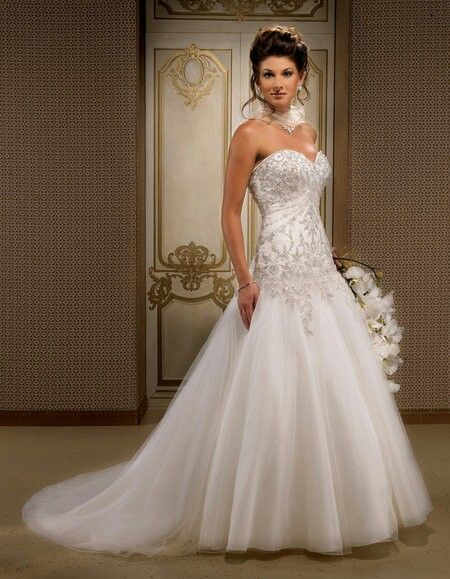 Cute Glammed Up Sparkly Wedding Dress