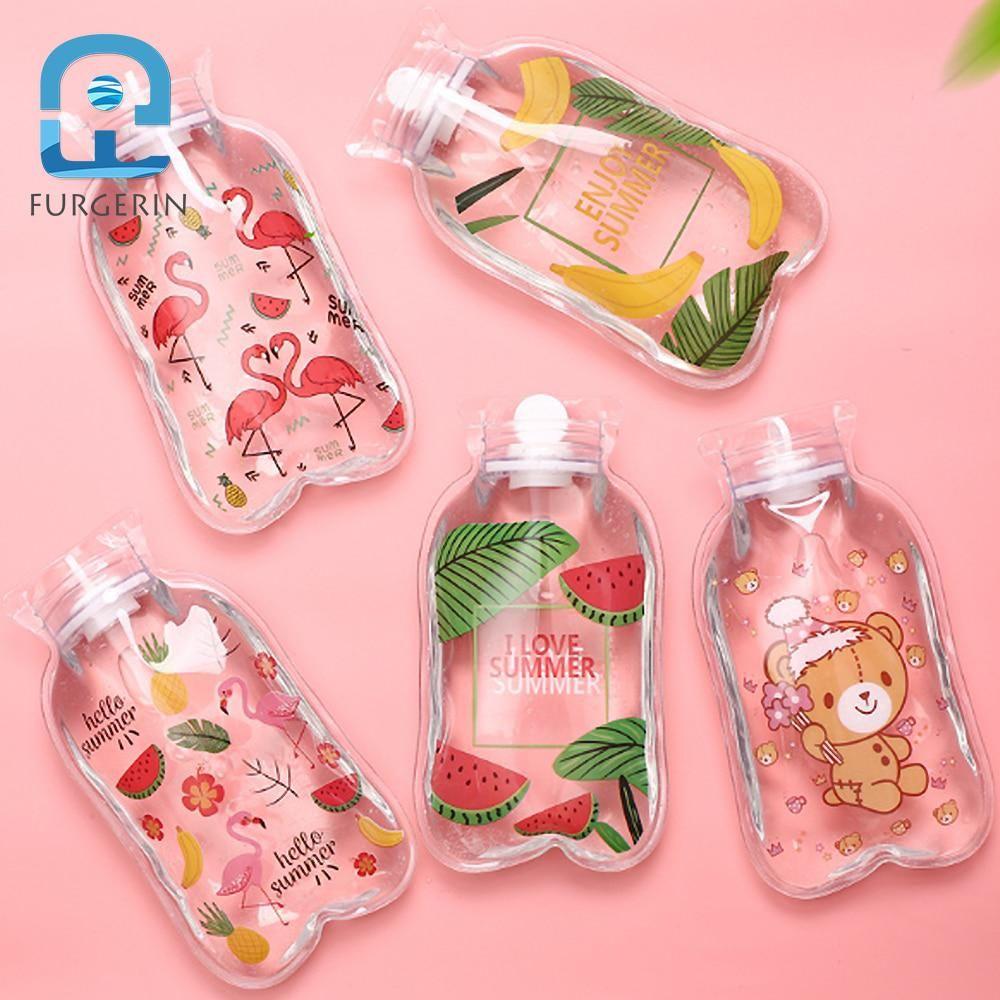 Furgerin Transparent Hot Water Bag Pvc Hand Warmers Portable Heat Pack Hand Heater Cute Warm Bag Warm Hand Cute Water Bottles Trendy Water Bottles Water Bottle