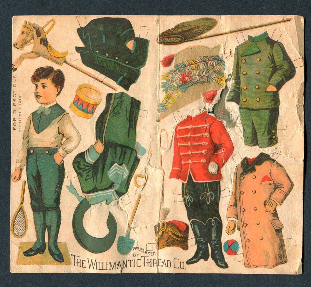 Uncut Willimantic Thread Paper Doll D2037 | eBay
