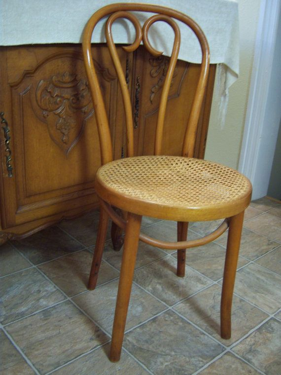 bentwood cane seat chairs redo kitchen table and chair round made in romania cafe bistro desk accent vintage furniture