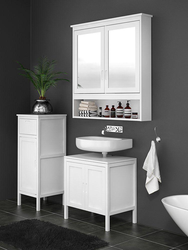 Bathroom Floor Cabinets Wooden Storage, Mirrored Bathroom Floor Cabinet