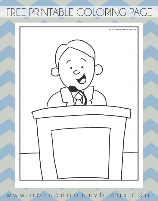 From The Pulpit Free LDS Coloring Page