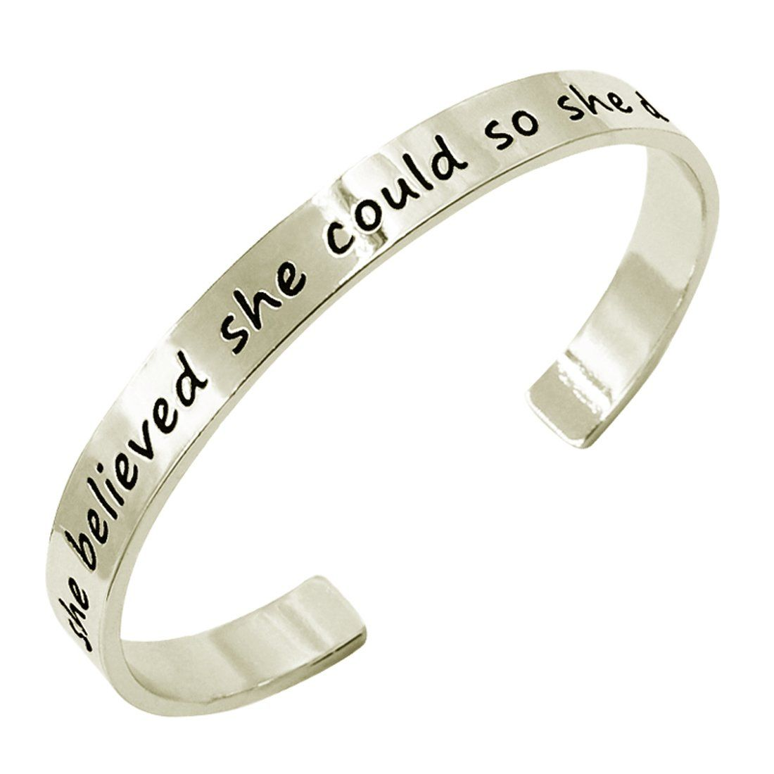 believed she alovesoul com bangle jewelry inspirational dp expandable amazon did so bracelet could message