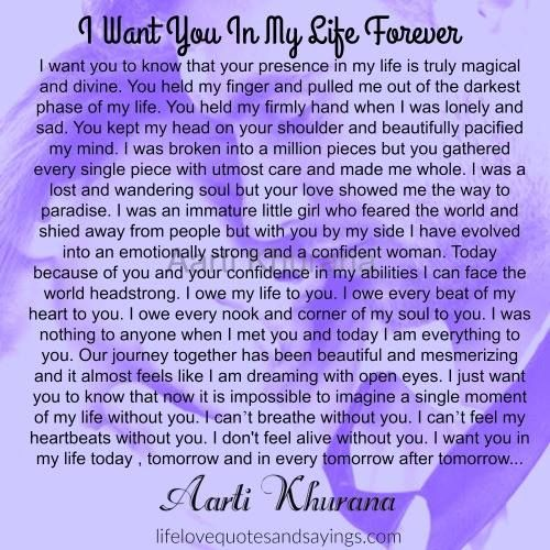 I Want You In My Life Forever F Pinterest Love Quotes Love