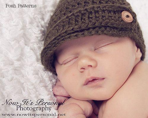 Crochet PATTERN - Crochet Newsboy Hat Pattern - Crochet Patterns for ...